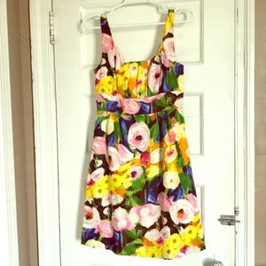 Abstract Floral J. Crew dress size 4